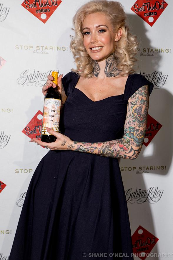 Sabrina Kelley Wine Bottle Release Party in Las Vegas