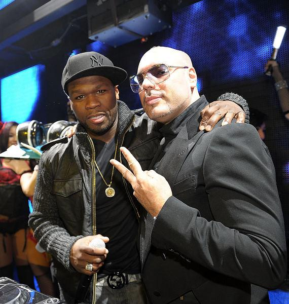 50 Cent and DJ Roger Sanchez at Marquee Nightclub Las Vegas