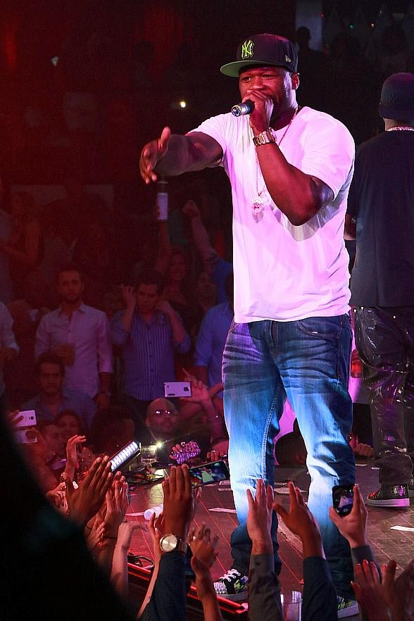 50 Cent, Tyga, Funkmaster Flex, Busta Rhymes, Tyson Beckford at Drai's Beachclub • Nightclub in Las Vegas