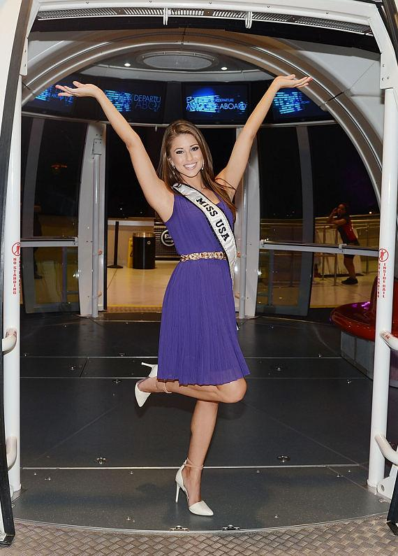 Miss USA Nia Sanchez enters The High Roller at The LINQ in Las Vegas