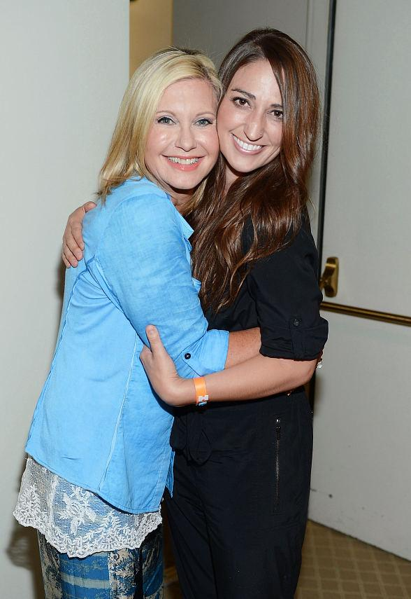 "Olivia Newton-John and Sara Bareilles Backstage at ""Summer Nights"" at The Flamingo"