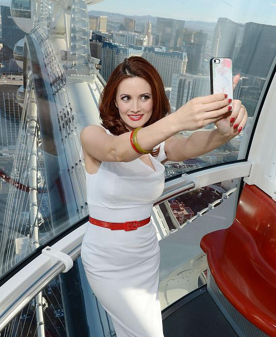 Holly Madison rides The High Roller at The LINQ in Las Vegas