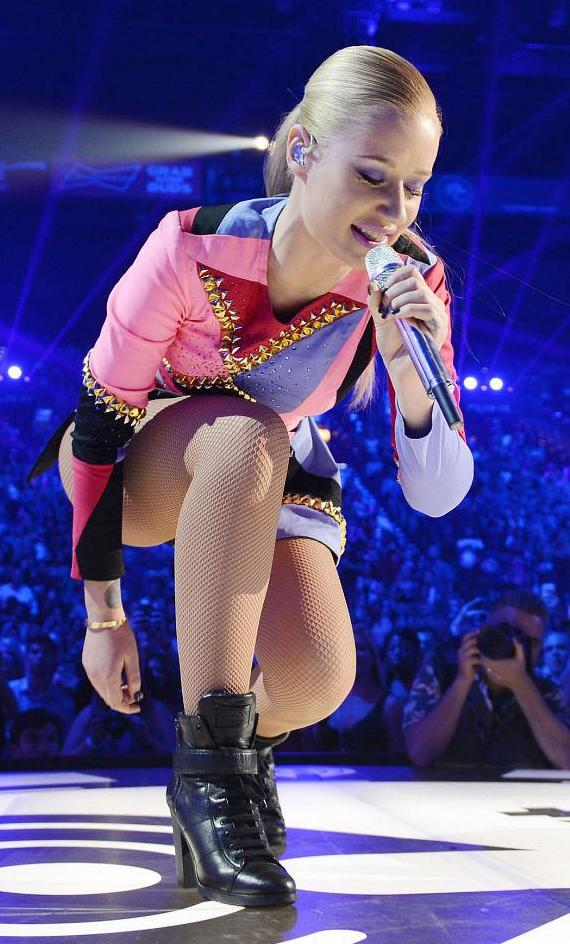 Rapper Iggy Azalea performs onstage during the 2014 iHeartRadio Music Festival at the MGM Grand Garden Arena