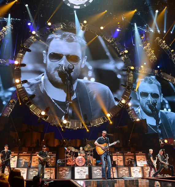 Recording artist Eric Church performs onstage during the 2014 iHeartRadio Music Festival at the MGM Grand Garden Arena