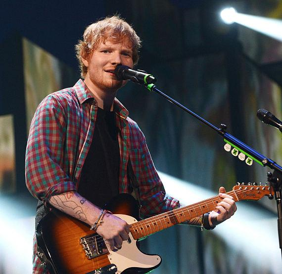 Recording artist Ed Sheeran performs onstage during the 2014 iHeartRadio Music Festival at the MGM Grand Garden Arena