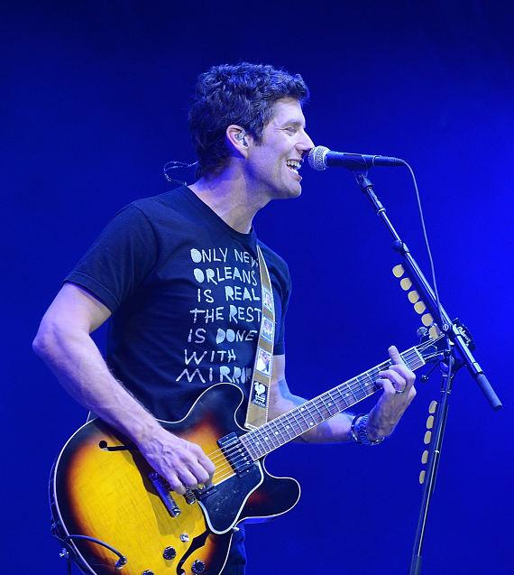Singer Kevin Griffin of Better Than Ezra performs at the Ninth Annual Wine Amplified Festival at the MGM Resorts Village on October 10, 2014
