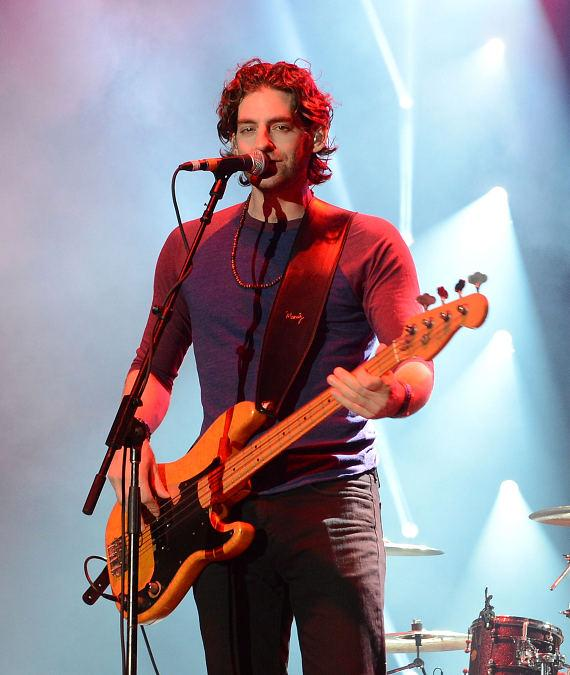 Bass guitarist Ben Spivak of Magic performs at the Ninth Annual Wine Amplified Festival at the MGM Resorts Village on October 11, 2014