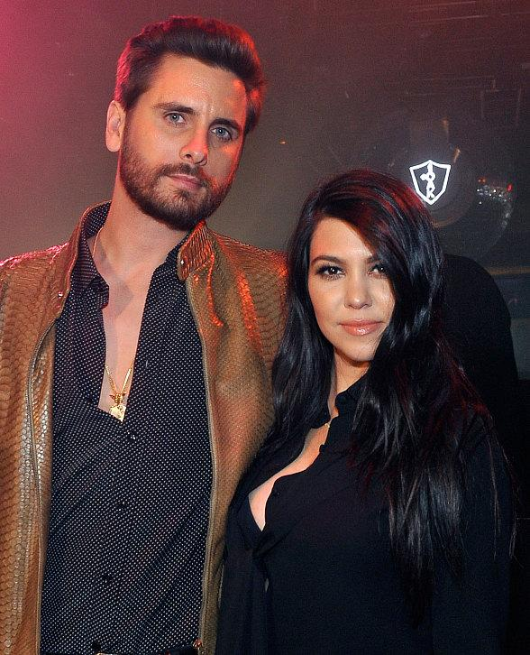 Scott Disick and Kourtney Kardashian at 1OAK in The Mirage Las Vegas