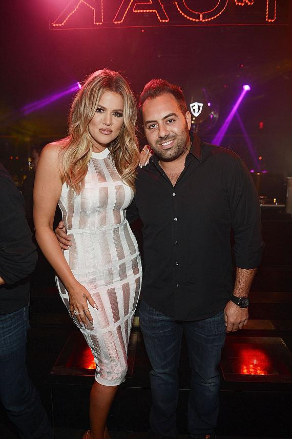 Khloe Kardashian and Eli Pacino arrive at 1 OAK Nightclub at The Mirage Hotel and Casino