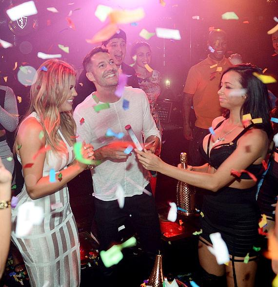 Khloe Kardashian and Mike Rosenthal attend 1 OAK Nightclub at The Mirage Hotel and Casino