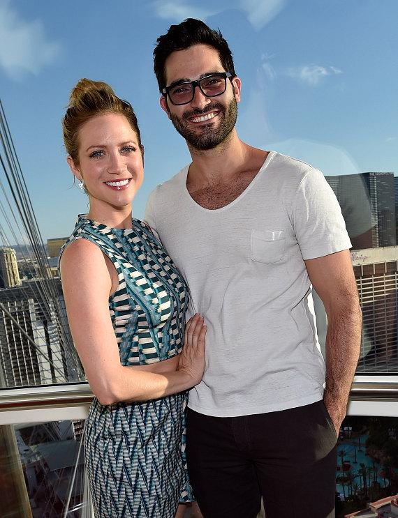 Actress Brittany Snow rides the High Roller at The LINQ ...