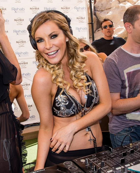 Crystal Hefner DJs at REHAB at Hard Rock Las Vegas