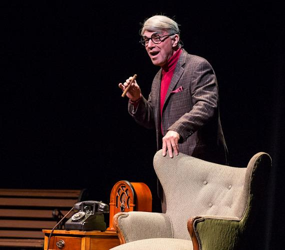 """Alan Safier as George Burns in """"Say Goodnight Gracie"""" at The Smith Center for Performing Arts"""