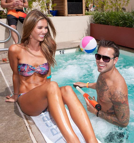 Audrina Patridge and brother Mike at WET REPUBLIC