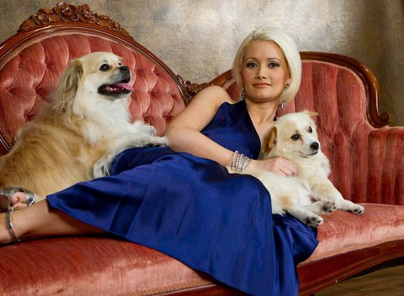 Holly Madison and Her Dogs: Josephine, Louis and Napolean