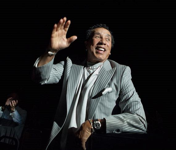 Smokey Robinson in audience