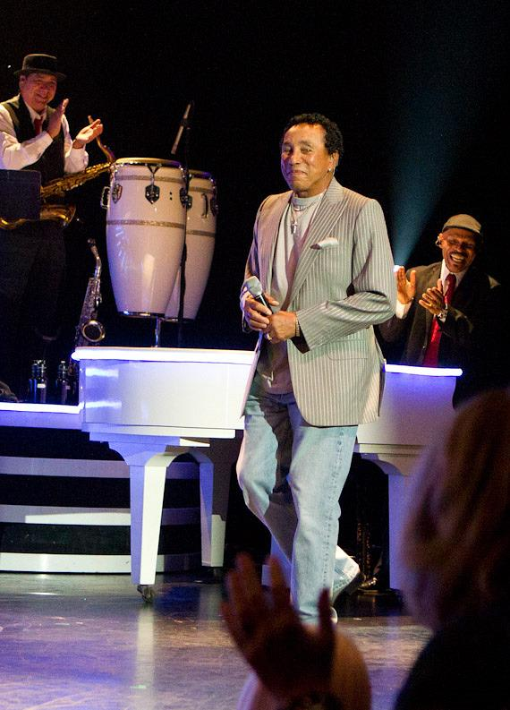 Smokey Robinson walks on stage