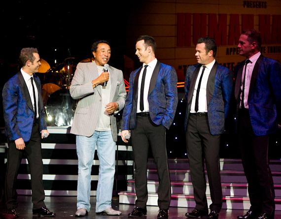Smokey Robinson performs with Human Nature