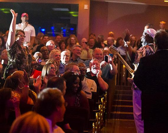 Guitarist Buddy Guy performs in the crowd at The Smith Center For The Performing Arts in Las Vegas