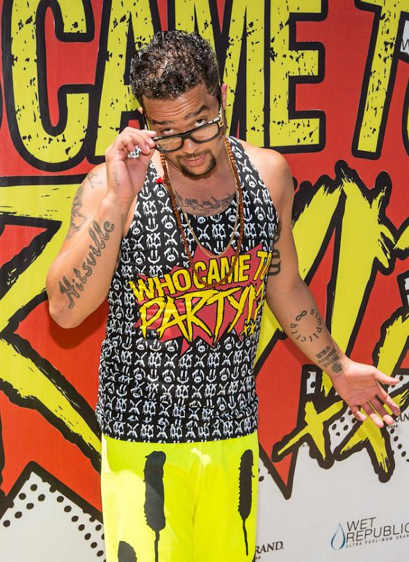 Sky Blu of LMFAO arrives at WET REPUBLIC