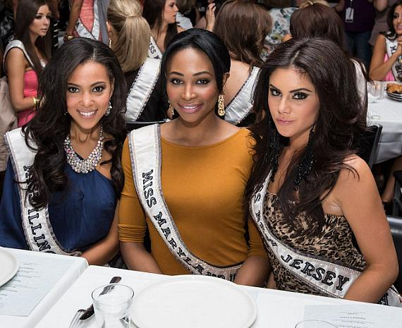 Miss USA contestants at Martorano's Restaurant in Las Vegas