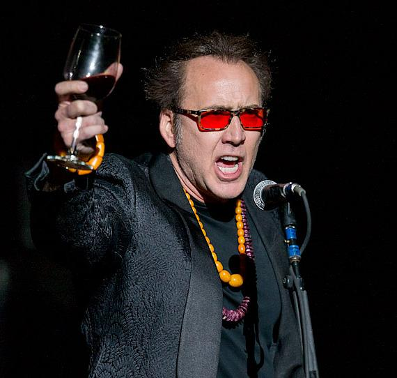Guns N' Roses fan Nicolas Cage warms up the crowd