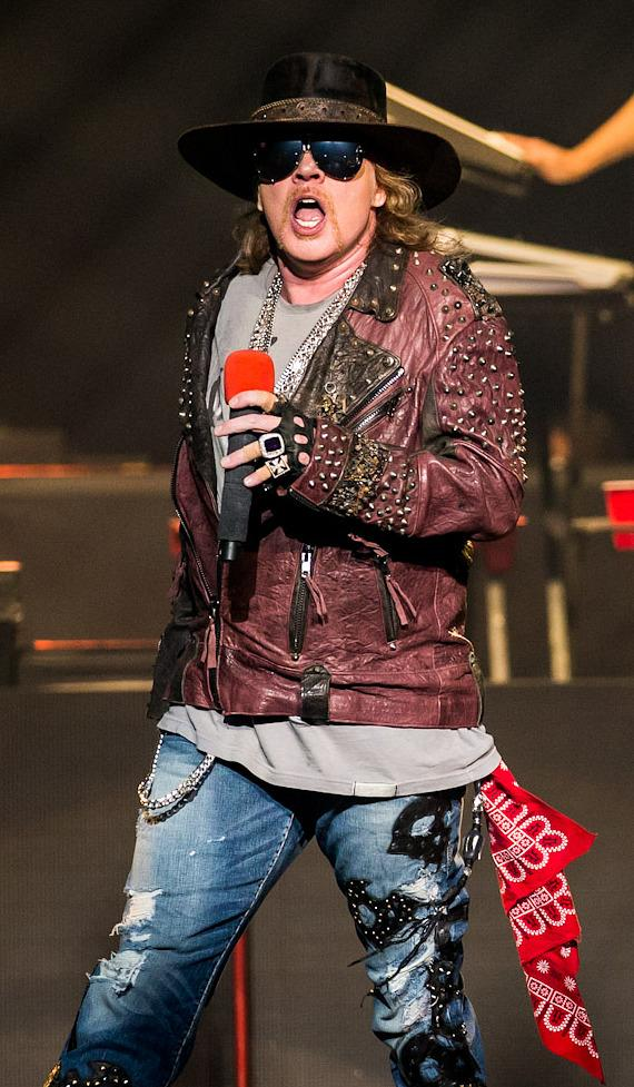 Axl Rose performs with Guns N' Roses at The Joint in Hard Rock Las Vegas