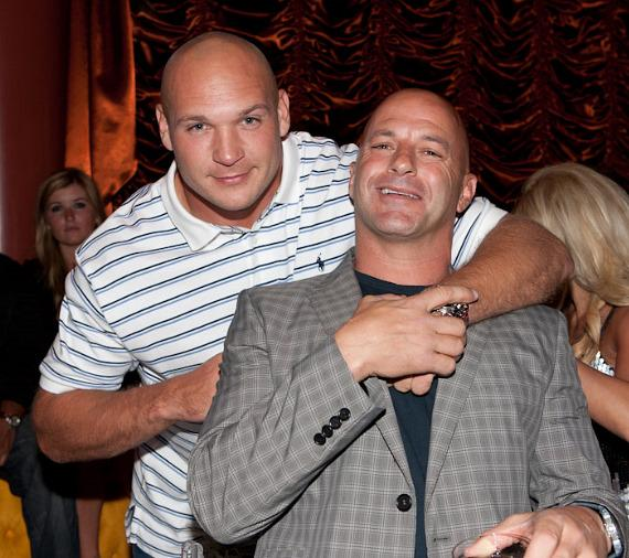 NFL player Brian Urlacher and Surrender Partner Bob Mancari