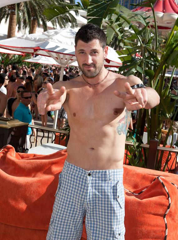 "Maksim Chmerkovskiy of ""Dancing with the Stars"" at Encore Beach Club's one year anniversary celebration"