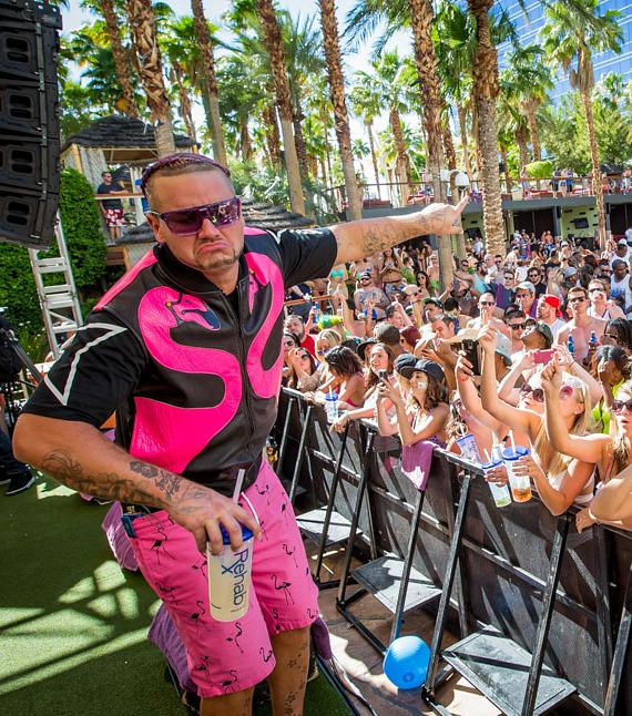 Riff Raff performs at REHAB Pool Party at Hard Rock Hotel & Casino in Las Vegas
