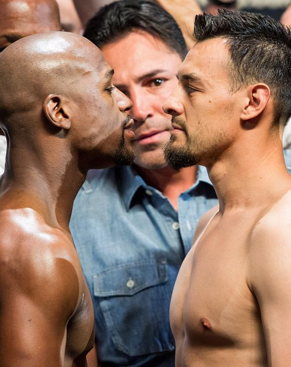 Mayweather and Guerrero face off at MGM Grand Garden Arena