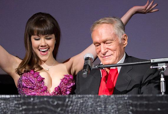Claire Sinclair and Hugh Hefner