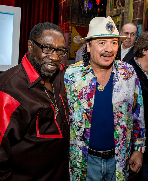Carlos Santana with Eddie Levert of The O'Jays