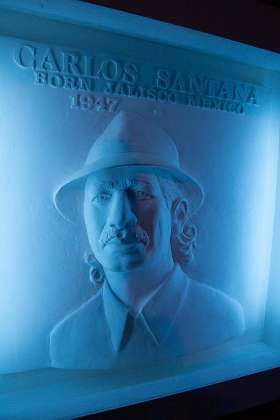 Carlos Santana honored with portrait/sculpture at House of Blues Las Vegas