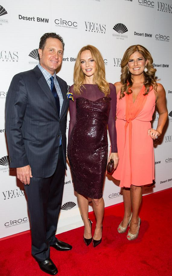 Publisher Josef Vann, Heather Graham and Editor-in-Chief Abby Tegnelia