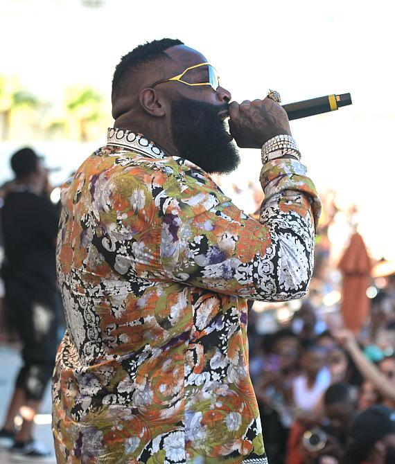 Rick Ross performs at DAYLIGHT Beach Club at Mandalay Bay Resort and Casino for LIT Sundays on Sunday, June 23, 2019.