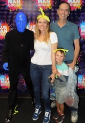 Singer-Songwriter Jewel attends Blue Man Group Las Vegas at Luxor Hotel and Casino