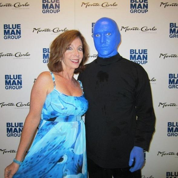 Rita Rudner Attends Blue Man Group at Monte Carlo Resort & Casino