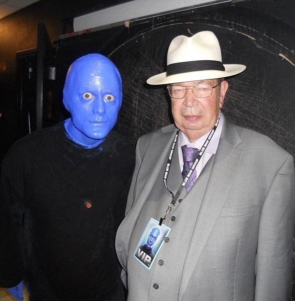 "Richard Harrison of HISTORY channel's ""Pawn Stars"" Enjoys  Blue Man Group at Monte Carlo Resort and Casino"