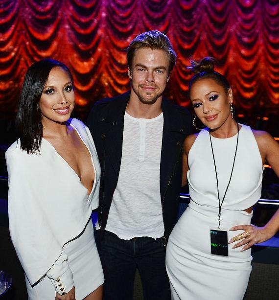 "Cheryl Burke, Derek Hough and Leah Remini at ""Jennifer Lopez: All I Have"" at The AXIS at Planet Hollywood Resort & Casino"