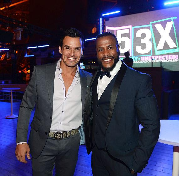 Antonio Sabato Jr. and Bryan Cheatham attend a pre-party for the opening of 53X