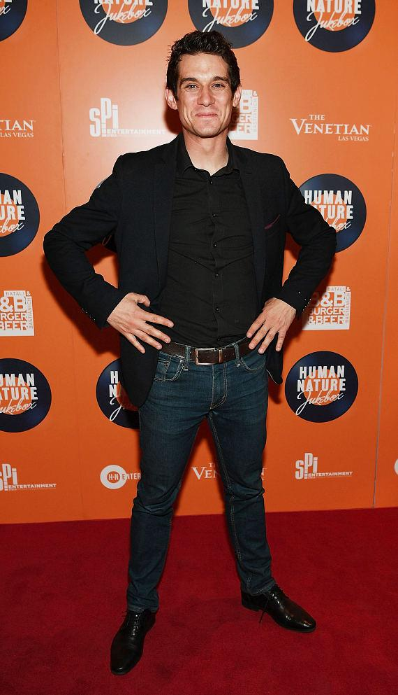 Xavier Mortimer arrives at the launch of Human Nature's new show 'Jukebox' at The Venetian Las Vegas