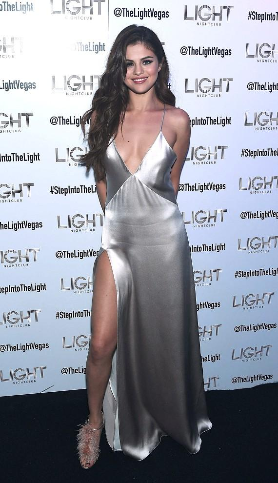 Selena Gomez arrives at official Revival Tour kick off after party at Light Nightclub at Mandalay Bay Hotel and Casino