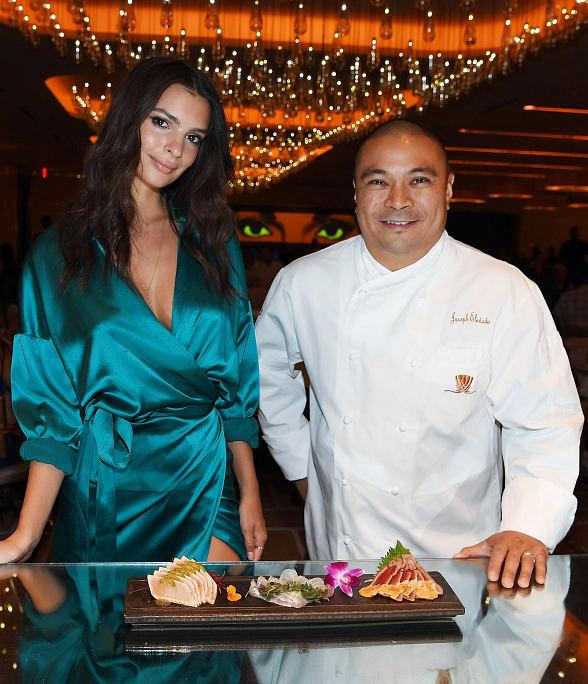 Emily Ratajkowski Celebrates Birthday Dinner at ANDREA's at Wynn Las Vegas