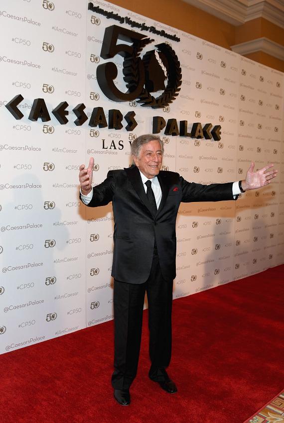 Tony Bennett at Caesars Palace 50th Anniversary Gala in Las Vegas
