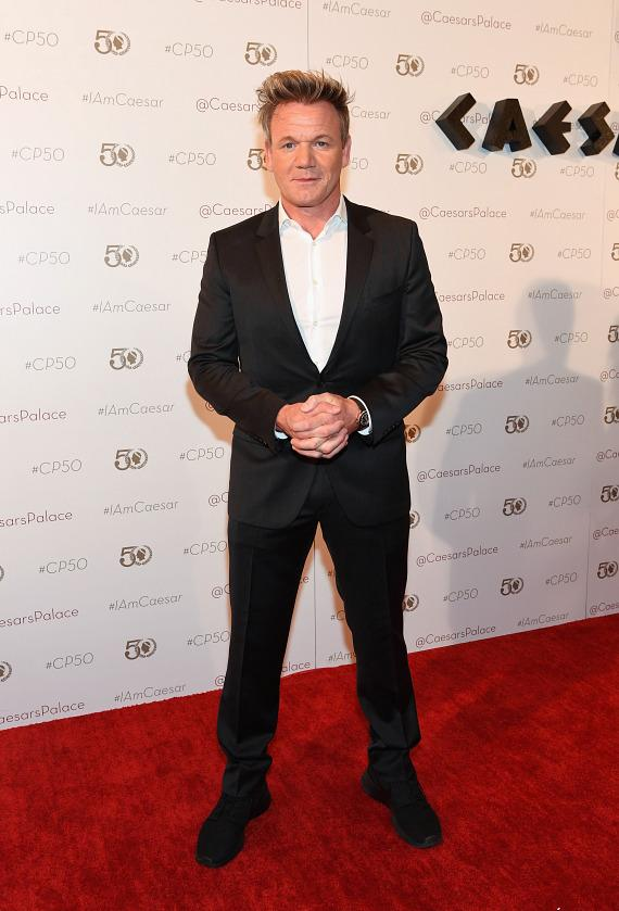Gordon Ramsey at Caesars Palace 50th Anniversary Gala in Las Vegas