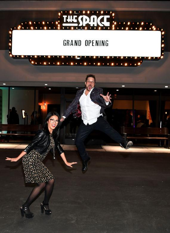 Cheryl Daro and Mark Shunock celebrate the grand opening of The Space, the new home of Mondays Dark on January 5, 2017 in Las Vegas, Nevada