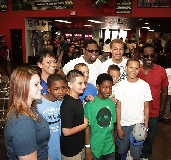 Boyz II Men host youth from Speedway Childrens Charities at Pole Position in Las Vegas