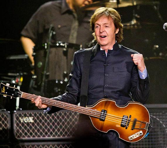 Paul McCartney performs to a sold out crowd at The MGM Grand, Yoko and Sean Lennon are seen in the audience singing along during the show