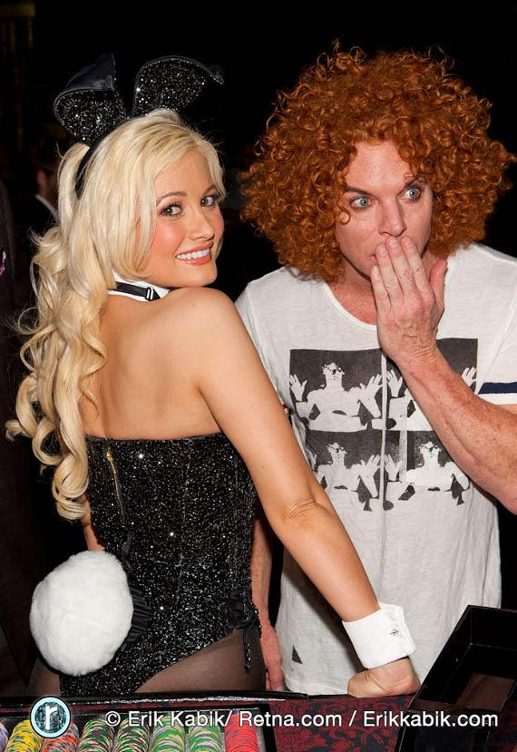Holly Madison with Carrot Top at Playboy Club
